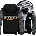 Winter Thicken Hoodie Pittsburgh Steelers Fleece Warm Jacket Sweatshirt Coat on eBay