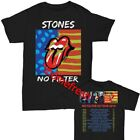 Rolling Stones No Filter Concert Tour 2019 T-Shirt full size Men Shirt Black image