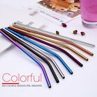 4 Pcs Stainless Steel Metal Drinking Straw Reusable Straws + Cleaner Brush Kit
