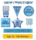 AGE 13 - Happy 13th Birthday - Party Balloons, Banners, Badges & Decorations