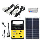 Solar Generator Lighting Home System Kit Solar Panel USB Lamps & Remote Control