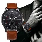 Retro Design Leather Band Watches Men Top Brand Relogio Masculino 2018 NEW Mens image