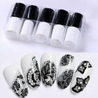 10 Rolls/Box Holographic Nail Foils Xmas Starry Nail Art Transfer Stickers Lace