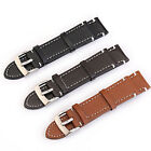 Genuine Leather Watch Wrist Band Strap Replacement 18 19 20 21 22 23 mm image