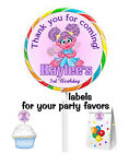20 SESAME STREET ABBY CADABBY BIRTHDAY PARTY FAVORS STICKERS LABELS