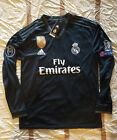 Real Madrid 2018/19 Away Long Sleeve Jersey Black Champions League