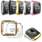 Fitbit Versa Bands Fitness Slim Designer Case Plating Shockproof Rubber Cover
