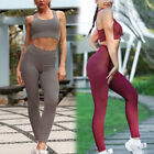 Sport Womens Full Tracksuits Yoga Fitness Running Stretchy Bra Tops+Legging Sets