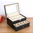 6-20 Slots Leather Watch Jewelry Display Collection Storage Organizer Box Gift image
