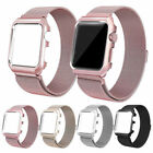 Milanese Stainless Steel iWatch Band Strap W/ Case For Apple Watch 42mm 38mm US image