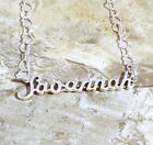 Sterling Silver Name Necklace -Savannah -on Heart Chain Your Choice Length-0723