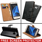 For Samsung Galaxy S7 S8+ S9 Luxury Genuine Real Leather Flip Case Wallet Cover