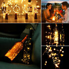 LED Light String  Silver Wire Cork String Fairy Light Bottle Party Decor