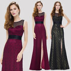 Ever-pretty UK Long Lace Split Bridesmaid Gown Sleeveless Party Dresses 08950