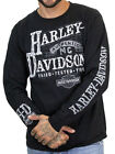 Harley-Davidson Mens Authentic Label B&S Black Long Sleeve Biker T-Shirt image