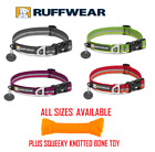 Ruffwear Crag Dog Collar - Various Sizes - Various Colours & Knotted Toy Bone