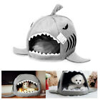 Pet Dog Puppy Cat Soft Fleece Cozy Warm Nest Shark House Bed House Cotton Mat US
