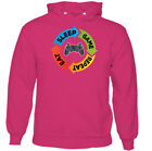 Eat Sleep Game Repeat Mens Funny Gaming Hoodie Console PS4 XBox PC Controller