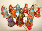 LITTLE PAPIER MACHE INDIAN ORNAMENTAL BELLS HANDMADE IN KASHMIR, COLLECTABLES