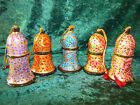 STUNNING PAPIER MACHE INDIAN DECORATIVE BELLS HANDMADE BY ARTISANS IN KASHMIR