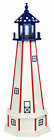 PATRIOTIC LIGHTHOUSE - Working White w/ Red Stripes & Stars Blue Top AMISH USA
