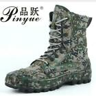 Military Tactical Autumn Winter Waterproof Digital Camo Leather Army Boots