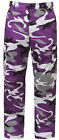 Kids Military Style BDU Pants Violet Camo Camouflage Trouser Boys Girls 66107