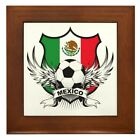 CafePress Mexico World Cup Soccer Framed Tile (651445313)