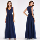 Ever-Pretty Womans Elegant V-Neck Long Evening Dress Lace Prom Party Dress 07509