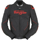 Furygan Raptor Jacket Black Red Leather Motorcycle Jacket NEW