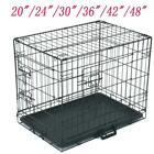 2036424824 36Pet Cat Dog Folding Crate Playpen Metal Cage Size 6 W Divider