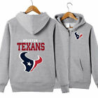 New Houston Texans New Era Core Full Zip Hoodie Warm Football Sweatshirt Jacket $24.0 USD on eBay