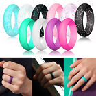 10 Pcs Women Silicone Wedding Ring Rubber Band Modern Durable Size 5 6 7 8 9