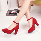 Spring Autumn Sweet Women High Thick Heels Pumps Retro Heeled Wedding Shoes фото