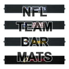 "NFL RUBBER BAR MATS COASTERS 3.25"" X 24"" $19.0 USD on eBay"