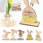 Bunny Wooden Decoration Easter Rabbit Home  Desktop Ornaments