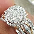 Exquisite White Topaz 925 Silver Eternity Ring Women Wedding Engagement Jewelry