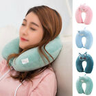 Cute Memory Foam U Shaped Travel Pillows Neck Support Home Office Soft Cushions
