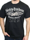 Harley-Davidson Mens Ride It Live It Wings Black Short Sleeve Biker T-Shirt image