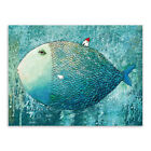 Watercolor Fish House Wall Art Canvas Painting Creative Print Home Room Decor