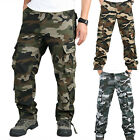 MENS MILITARY ARMY CAMO CARGO COMBAT WORKWEAR PANTS WORK TROUSERS MULTI POCKETS