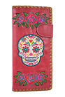 Lavishy Rose & Sugar Skull Day of the Dead Embroidered Large Wallet image