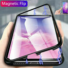 For Samsung Galaxy S10 Case MAGNETIC ADSORPTION METAL GLASS Back Cover