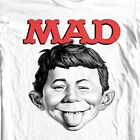 MAD Magazine Alfred E Newman T-shirt  retro 1970's funny graphic tee WBT349