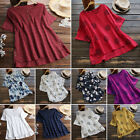 Fashion Women Summer Cotton Short Sleeve Casual Shirt Tops Blouse T-Shirt Lot