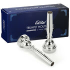 Kyпить 1/2Pack Professional Eastar Bb Trumpet Mouthpiece 3C 5C 7C Silver Plated на еВаy.соm