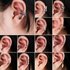 Fashion Crystal Clip Ear Cuff Stud Women's Men Punk Wrap Cartilage Earring Gift image