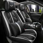 US Universal PU Leather Car Seat Cover 5 Seat SUV Cushions Front $124.99 USD on eBay
