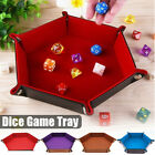 Внешний вид - Dice Tray Hexagon PU Leather Collapsible Rolling Storage Box Tray for Board Game