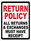 Return Policy All Returns Exchanges Must Have Receipt Sign. Size Options. Refund